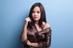 Beautiful young Asian woman. Royalty Free Stock Photography
