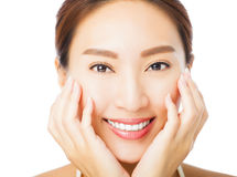 Beautiful young asian woman face Royalty Free Stock Photo