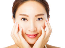 Beautiful young asian woman face Royalty Free Stock Images