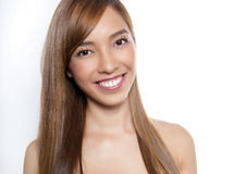 Beautiful young asian woman with flawless skin. And perfect make-up Royalty Free Stock Images