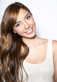 Beautiful young asian woman with flawless skin. And perfect make-up Royalty Free Stock Photography