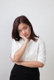 Beautiful young Asian woman get bored. Stock Images