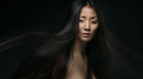 Beautiful young asian woman royalty free stock photo