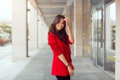 Beautiful young asian woman outdoors Stock Image