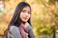 Beautiful Young Asian Woman Outdoors Stock Photos