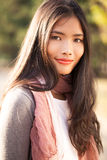 Beautiful Young Asian Woman Outdoors Royalty Free Stock Photos