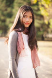 Beautiful Young Asian Woman Outdoors Royalty Free Stock Images