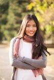 Beautiful Young Asian Woman Outdoors Royalty Free Stock Photo