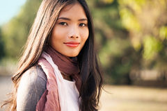 Beautiful Young Asian Woman Outdoors Stock Image