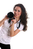 Beautiful young asian woman photographer Royalty Free Stock Image