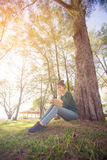 Beautiful young asian woman reading book Royalty Free Stock Image