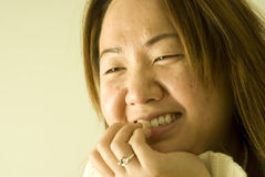 Beautiful young Asian woman, smiling, laughing Stock Photography