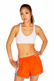 Beautiful Young Asian Woman in Sports Bra Royalty Free Stock Photos