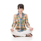 Beautiful young asian woman in yoga pose Stock Images