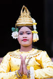 A Beautiful Young Aspara Dancer, Cambodia Stock Photography