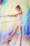 Beautiful young ballerina. Stock Photos