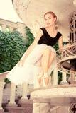 Beautiful young ballerina rehearsing Royalty Free Stock Photo