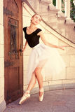 Beautiful young ballerina rehearsing Stock Photography