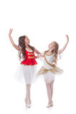 Beautiful young ballerinas dancing in pair Royalty Free Stock Images