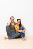 Beautiful young barefoot couple Royalty Free Stock Images