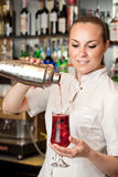 Beautiful young barmaid Stock Photography