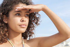 Beautiful young beach girl Stock Image