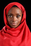 Beautiful Young Black Religious Woman In Hijab Royalty Free Stock Photos