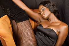 Beautiful young black woman Stock Photo