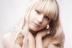 Beautiful young blond girl Stock Photo