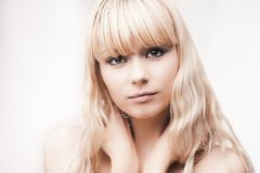 Beautiful young blond girl Royalty Free Stock Image
