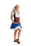 Beautiful young blond girl of oktoberfest beer stein Stock Image