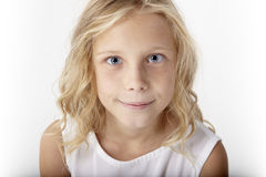 Beautiful young blond girl portrait Royalty Free Stock Photo