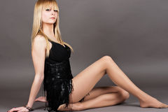 Beautiful young blond Stock Images