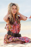 Beautiful young blond lady royalty free stock image