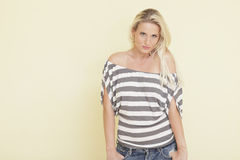 Beautiful young blond model Royalty Free Stock Photography