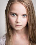 Beautiful Young Blond Teenage Girl In The Studio. Royalty Free Stock Image