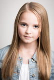 Beautiful Young Blond Teenage Girl In The Studio. Royalty Free Stock Images