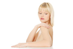 Beautiful young blond woman Royalty Free Stock Images