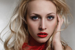 Beautiful young blond woman Stock Photos