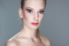 Beautiful young blond woman Royalty Free Stock Photos