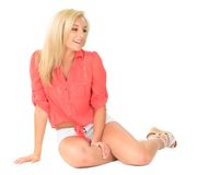 Beautiful young blond woman Stock Image