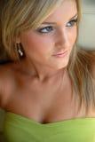 Beautiful Young Blond Woman stock photos