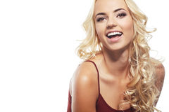 Beautiful young blond woman with clean face Royalty Free Stock Photo