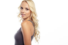 Beautiful young blond woman with clean face Stock Photo
