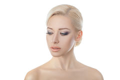 Beautiful young blond woman. Royalty Free Stock Photography