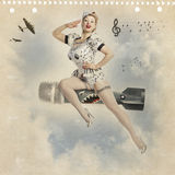 Beautiful young blond woman pin-up Royalty Free Stock Photography
