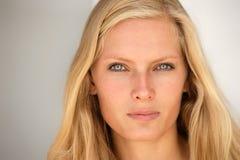 Beautiful young blond woman portrait. Royalty Free Stock Photo