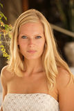 Beautiful young blond woman portrait. Royalty Free Stock Images