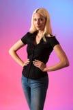 Beautiful young blond woman studio portrait Royalty Free Stock Photo