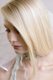 The beautiful young blonde royalty free stock photography